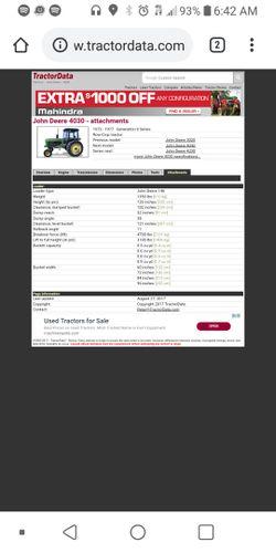 1978 John Deere tractor runs diesel very good works everything work on it for Sale in Fort Worth,  TX