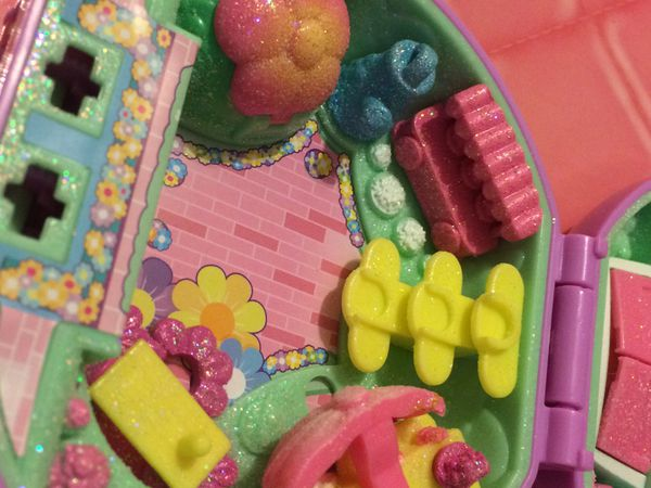 Toy shopkins secret lock DEFECTIVE pretty petals rare glitter special finish playset