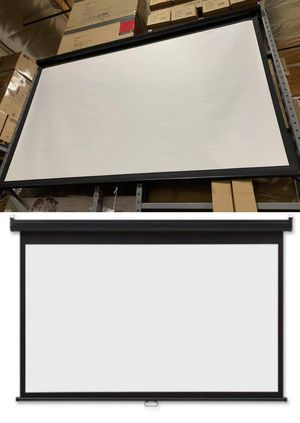 "NEW IN BOX 100"" inch 87x48 inches Projector Screen Size Hanging Wall Mounted 16:9 Indoor Home Movie Theater Retractable for Sale in Los Angeles, CA"