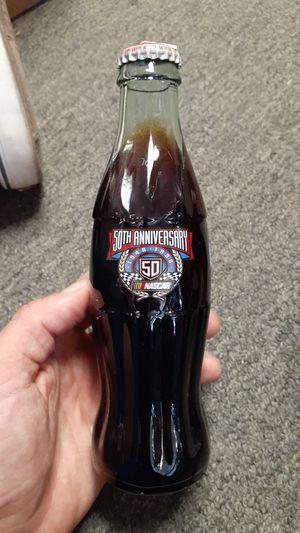 Cocacola 50th Anniversary Nascar bottle. for Sale in Wichita, KS