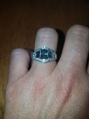 Sterling silver Mystic topaz and white sapphire ring size 7 and 8 for Sale in Dundalk, MD