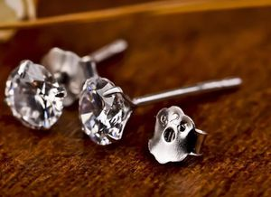 SHIPPING ONLY 1.68cts Round Cut Lab Diamond 925 Solid Sterling Silver Stud Earring for Sale in Silver Spring, MD