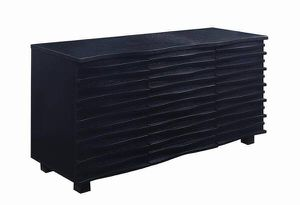 Rich Black Wave Design Dining Room Server! Lowest Prices Ever! for Sale in Sacramento, CA