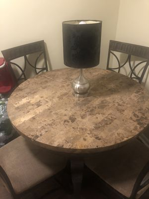 Marble table w 4 matching chairs for Sale in Hackensack, NJ