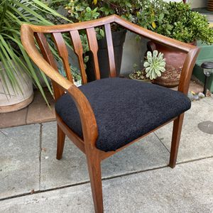 RARE Vintage Mid Century John Keal for Brown Saltman Walnut Dining Desk Accent Chair for Sale in San Diego, CA