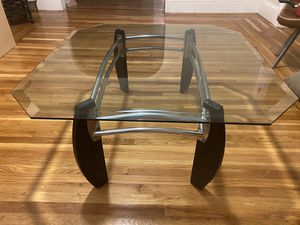 Large Square Glass Coffee Table for Sale in Chelsea, MA