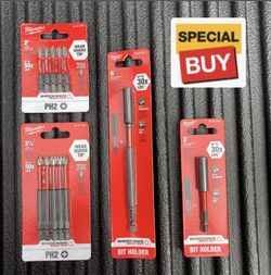 Milwaukee Bits And Magnetic Bit Holder Set (4 Pieces ) for Sale in Corona,  CA