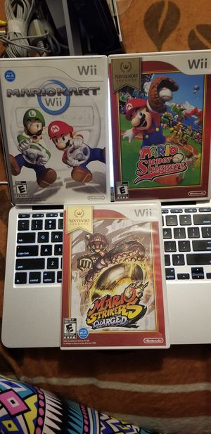 Mario wii games for Sale in Los Angeles, CA