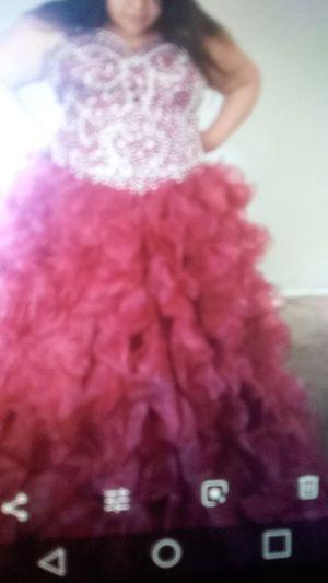 Burgundy dress for Quinceanera/sweet 16 for Sale in San Bernardino, CA