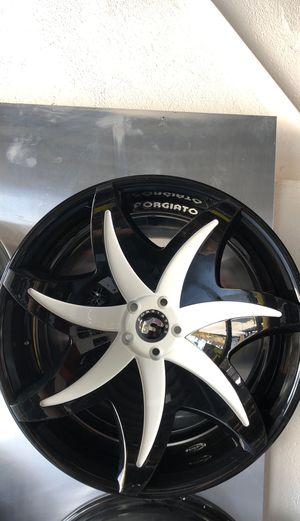 "22"" Forgiato Black machined rims call for pricing for Sale in South Gate, CA"