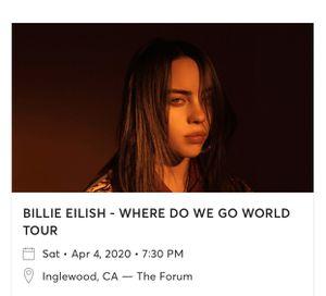 BILLIE EILISH WHERE DO WE GO WORLD TOUR for Sale in Riverside, CA