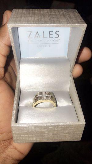 10k White Cross Diamond Ring for Sale in Winthrop, MA