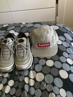 AirMax 97 silver bullets 8.5 with supreme silk camp for Sale in Silver Spring, MD