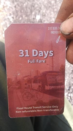 Indigo 31 day bus pass unstamped for Sale in Indianapolis, IN