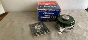 Vintage Shakespeare fly rod reel 1821 model GD with original box and instructions for Sale in Dallas, TX