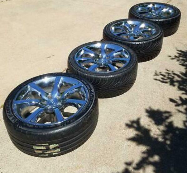 Infiniti G35 OEM Chrome wheels w/ tires
