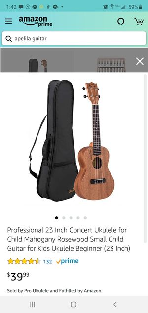 "Apelila 23"" Concert Ukulele,Mahogany Acoustic Mini Guitar Musical Instrument with Tuner,Bag, Pick, Nylon Strings, for Sale in West Covina, CA"