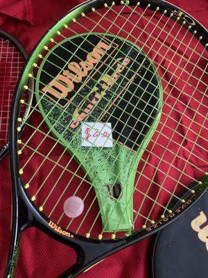 Wilson tennis racket with 10 tennis balls for Sale in Skokie, IL