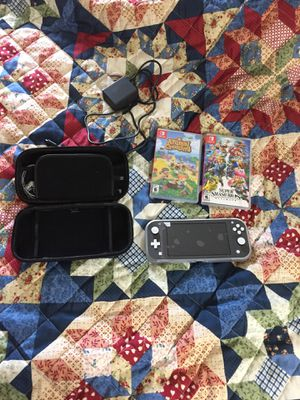 Nintendo Switch Lite Bundle Pack - Includes 2 Games, Travel Case, and Charger for Sale in Wood-Ridge, NJ