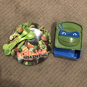 Ninja Turtles Plate Sandwich Box for Sale in Seattle, WA