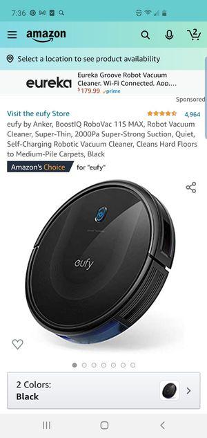 ufy by Anker, BoostIQ RoboVac 30C, Robot Vacuum Cleaner, Wi-Fi, Super-Thin, 1500Pa for Sale in El Monte, CA