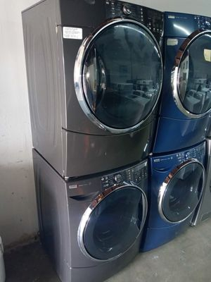 🎀🎀🎈kenmore elite washer and dryer electric steam nice set🎀🎀🎈 for Sale in Houston, TX