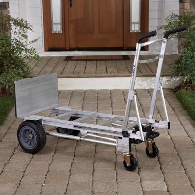 $100 each NEW 3 in 1 XL flagship model aluminum heavy duty hand truck lay flat dolly 1000lb capacity utility cart flat free tires