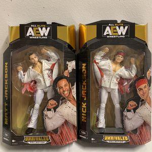 AEW Unrivaled Young Bucks Matt & Nick Jackson Figure All Elite Wrestling for Sale in Hialeah, FL