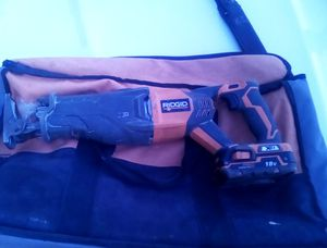 Cordless sawzall with carrying bag for Sale in Smithville, MO