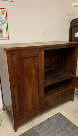 Solid teak cabinet. for Sale in Pacifica,  CA
