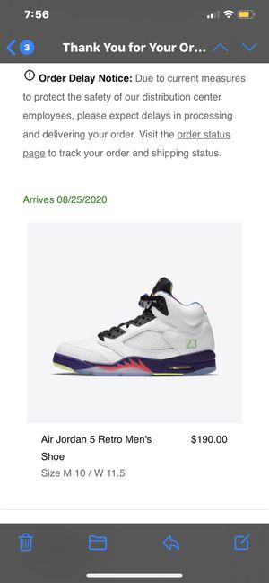 Jordan 5 bel air size 10 for Sale in Vista, CA