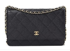 Chanel Caviar Quilted Wallet On Chain WOC Black for Sale in Weehawken, NJ