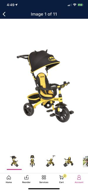 KidsEmbrace-DC-Comics-Batman-4-in-1-Push-and-Ride-Stroller-Tricycle for Sale in Kailua-Kona, HI