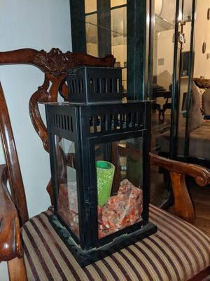Large Metal Lantern Candle Holder for Sale in Garland, TX