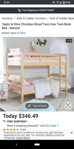 Light oak bunk beds - twin for Sale in Portland, OR