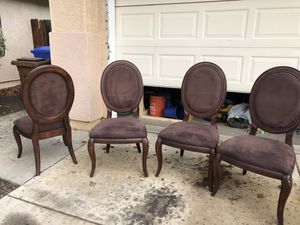 4 brown dining chairs. FREE for Sale in Brentwood, CA