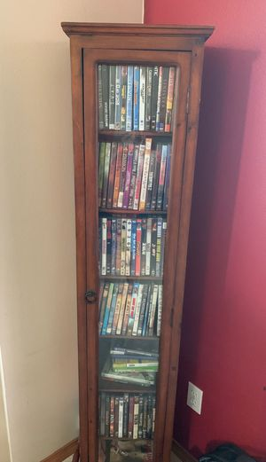 DVD storage shelve with glass doors for Sale in Federal Way, WA