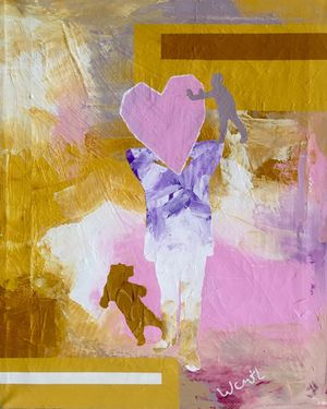 Love overcomes hate / Positive art painting on canvas for Sale in Arlington, VA