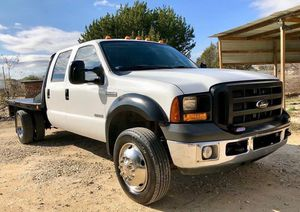 2007 Ford F450 Power Stroke XL 6.0L Turbo Diesel Super Duty Crew Cab 8FT Flat Bed 2WD 6 Speed!✍🏻✍🏻 for Sale in Austin, TX
