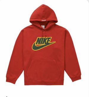 Supreme x Nike Appliqué Hoodie - Red - Medium for Sale in Northville, MI