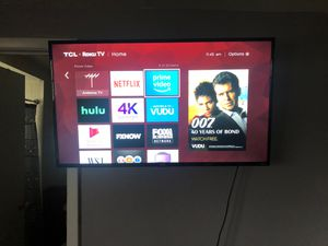 "49"" 4k Tcl roku smart tv for Sale in Oak Forest, IL"