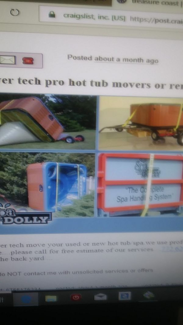 Pro hot tub anf spa mover