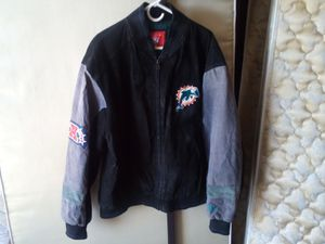 Miami Dolphins suede jacket 2XL for Sale in Riverside, CA