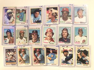 1978 Topps Baseball Cards for Sale in Hamilton Township, NJ