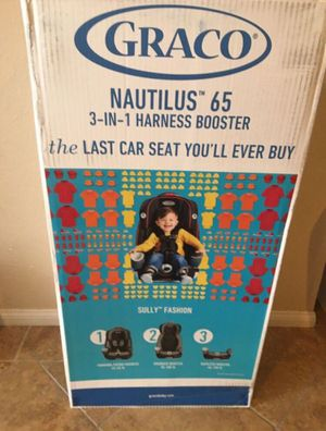 Graco Nautilus 65 3-in-1 Multi-Use Harness Booster Convertible Toddler Car Seat for Sale in Westminster, CA