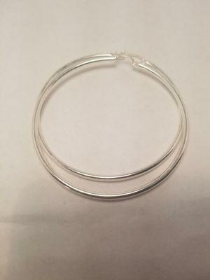 Silver Hoop Earrings for Sale in Fort Myers, FL