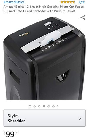 Amazon Basic Shredder for Sale in San Diego, CA
