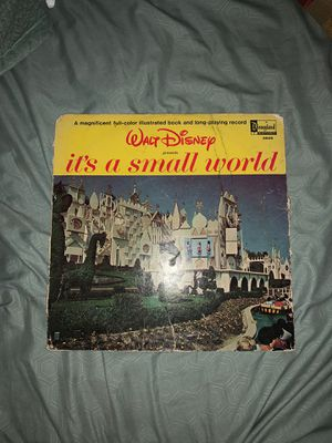 Walt Disney it's a small world two peice record set for Sale in Lakeland, FL