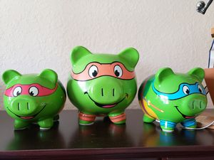 Ninja turtle piggy banks for Sale in VLG WELLINGTN, FL