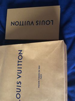 Authentic Louis Vuitton Shopping Bag And Gift Card Box for Sale in Framingham,  MA